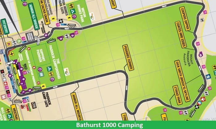 Bathurst 1000 Camping Map