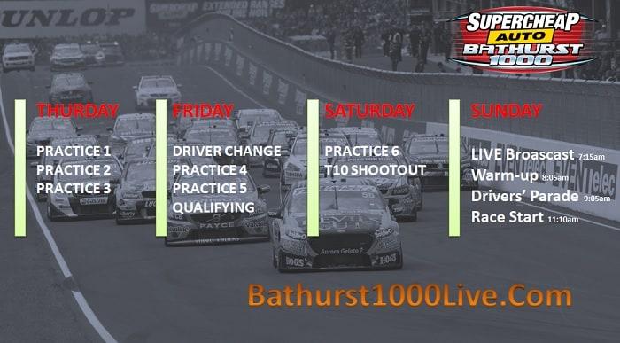 Bathurst 1000 Start Time